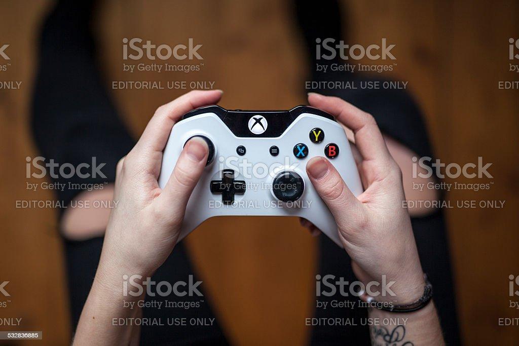 Xbox One Controller - White stock photo