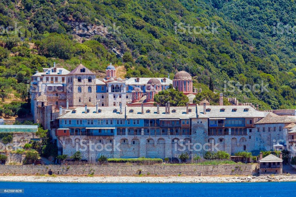 Xenofontos Monastery, Mount Athos stock photo