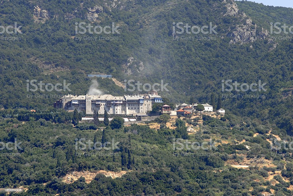 Xeropotamou Monastery royalty-free stock photo