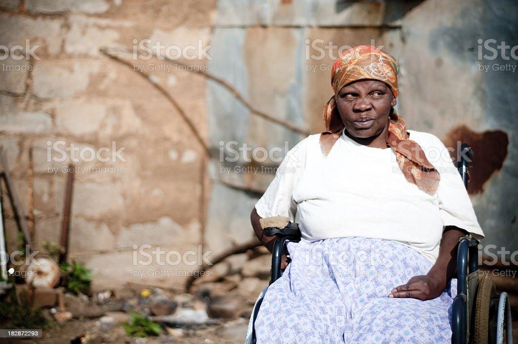 Xhosa Frau im Rollstuhl – Foto
