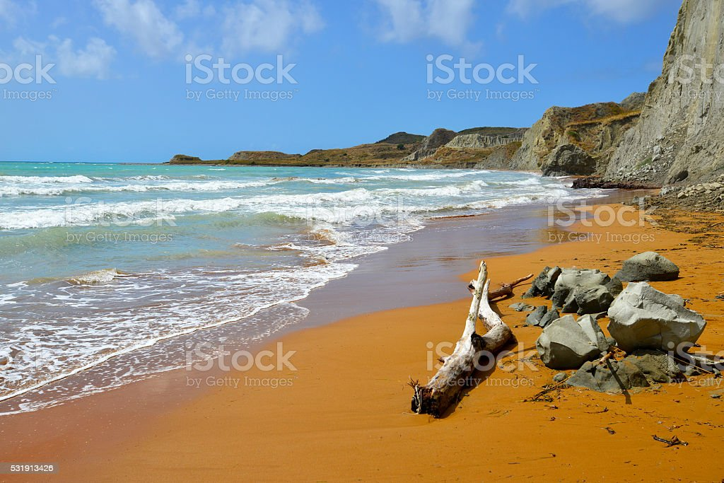 Xi beach, Kefalonia, Greece stock photo