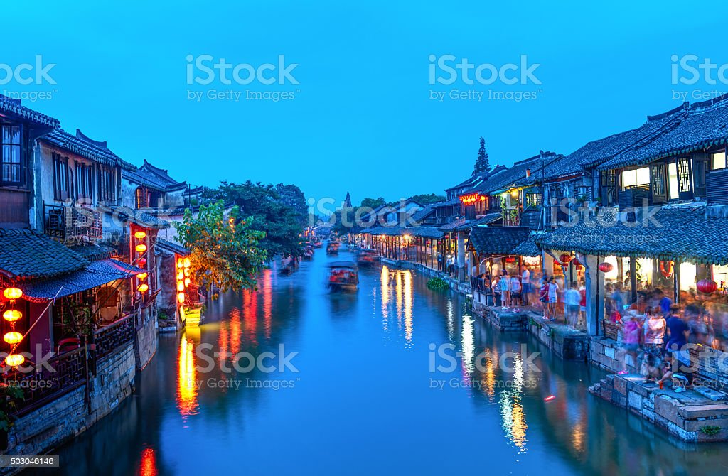Xi tang ancient town stock photo