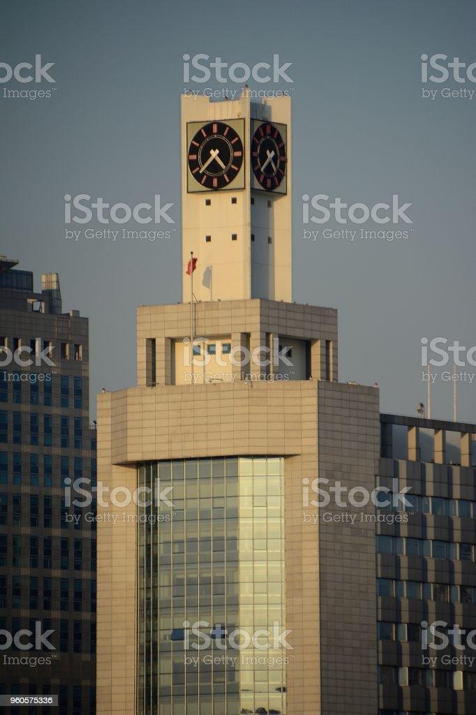 Xiamen Water Company Building clock tower in Xiamen, Fujian province, China stock photo