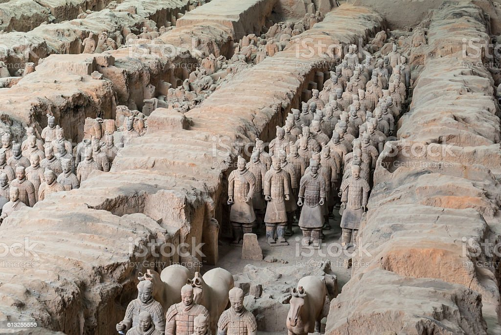 Xian China Terra Cotta Warriors stock photo