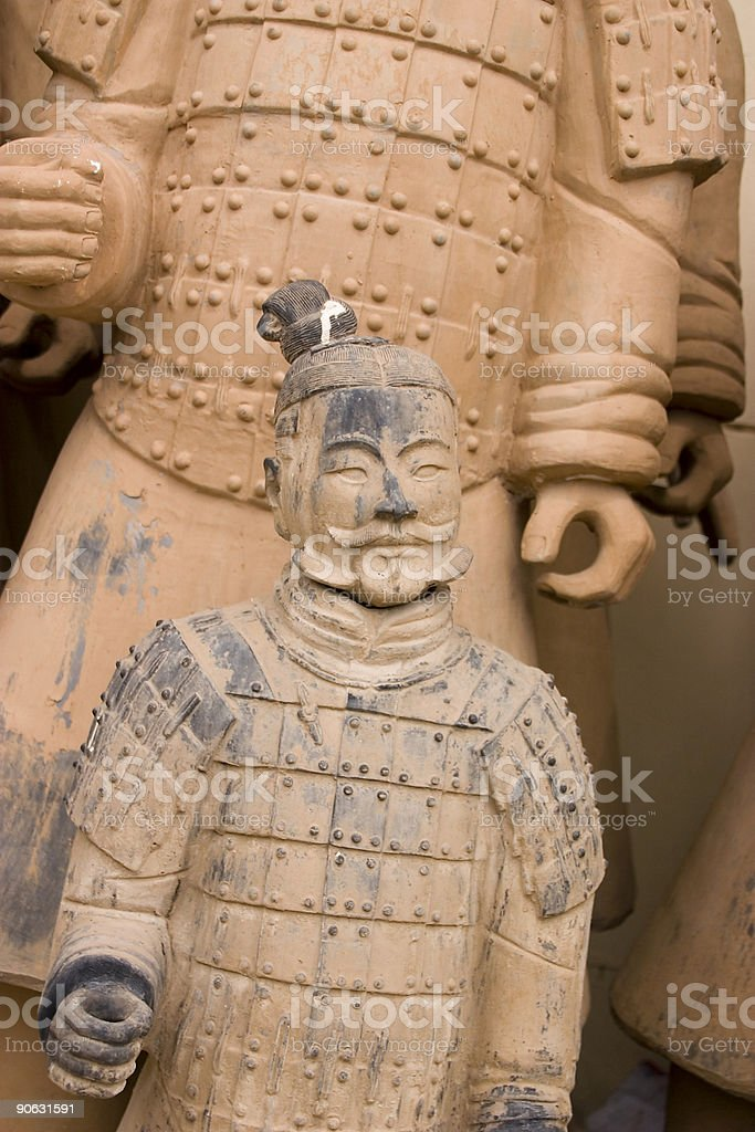 Xian China: Terracotta Warriors Army of Copies royalty-free stock photo