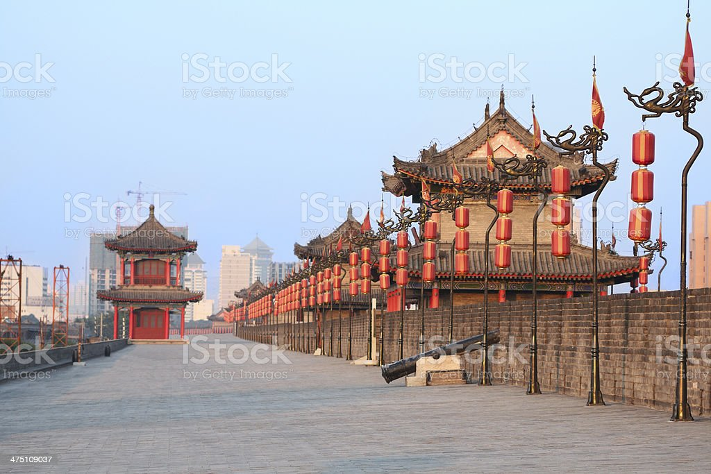 Xi'an city wall, China stock photo