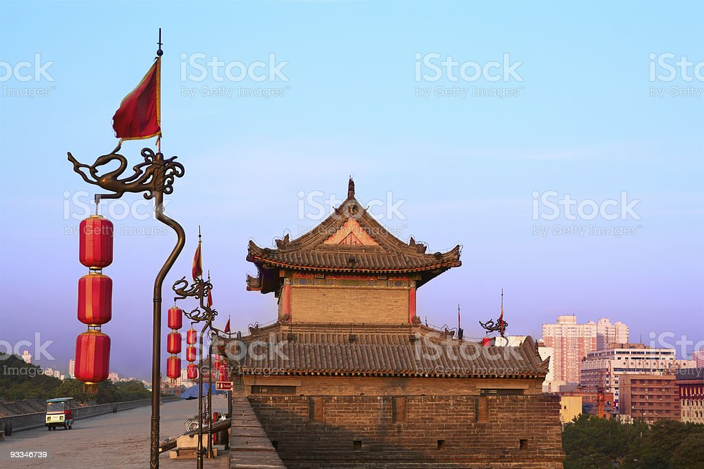 Xi'an city wall, China royalty-free stock photo