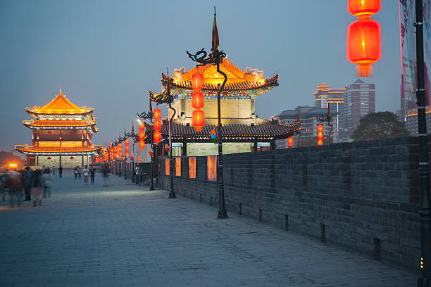 Xian city wall Xian city wall silk road stock pictures, royalty-free photos & images