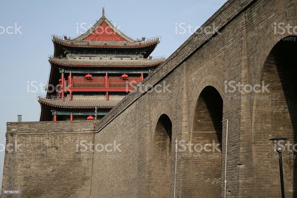Xi'an City Wall royalty-free stock photo