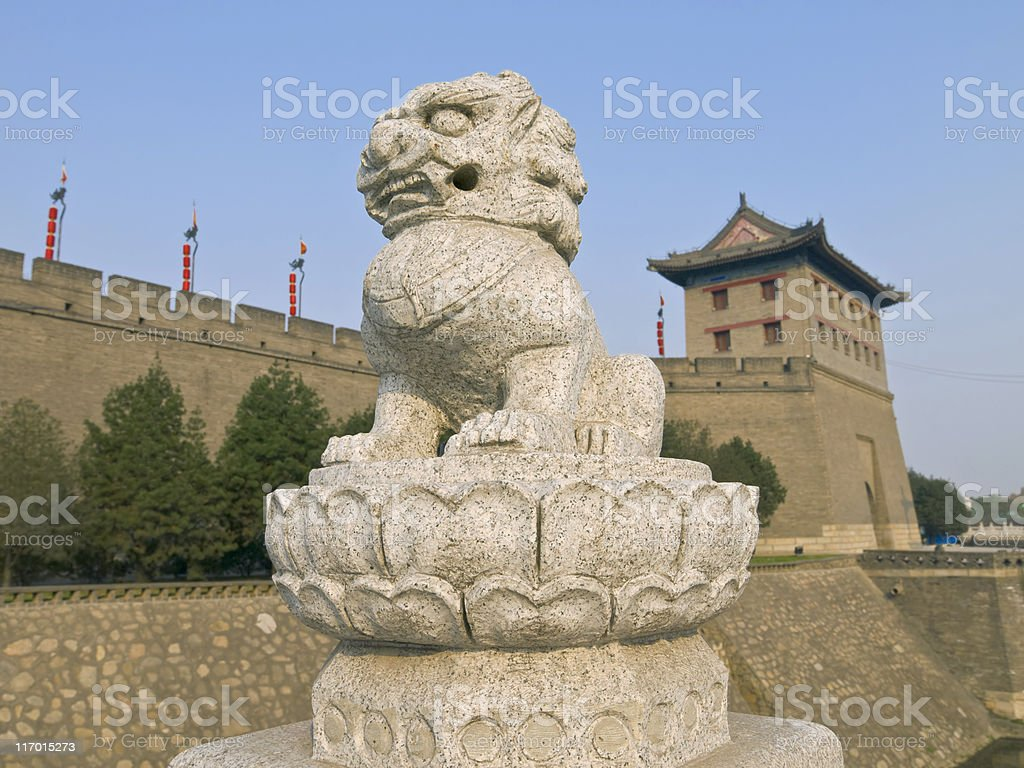 Xian City Walls royalty-free stock photo