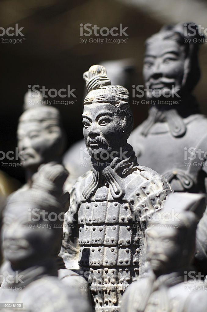 Xi'an Clay Figures royalty-free stock photo