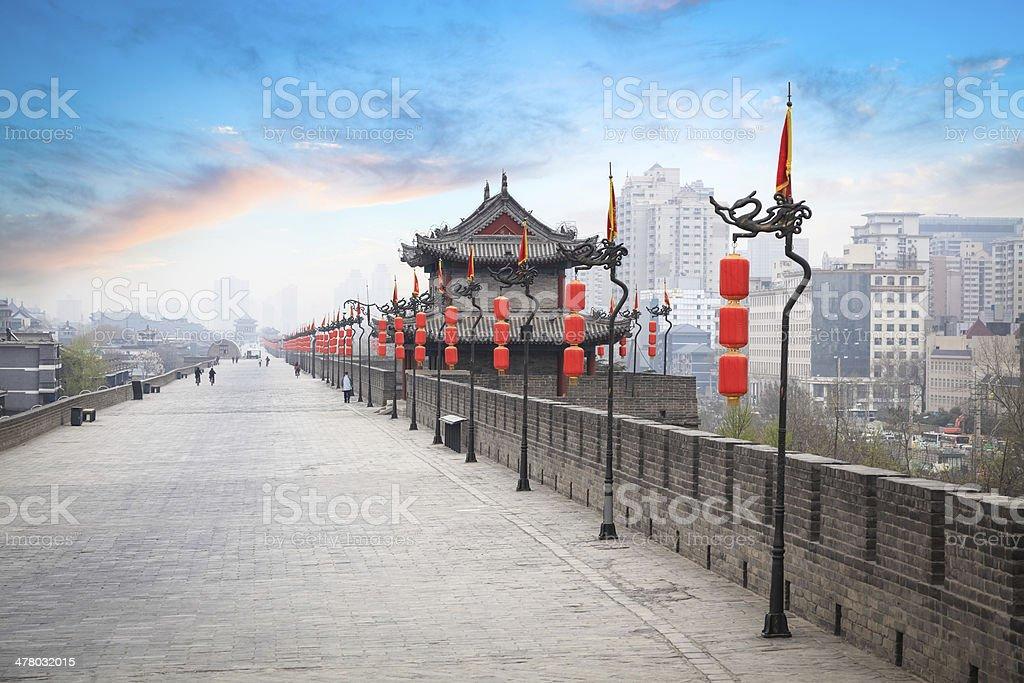 xian landscape stock photo