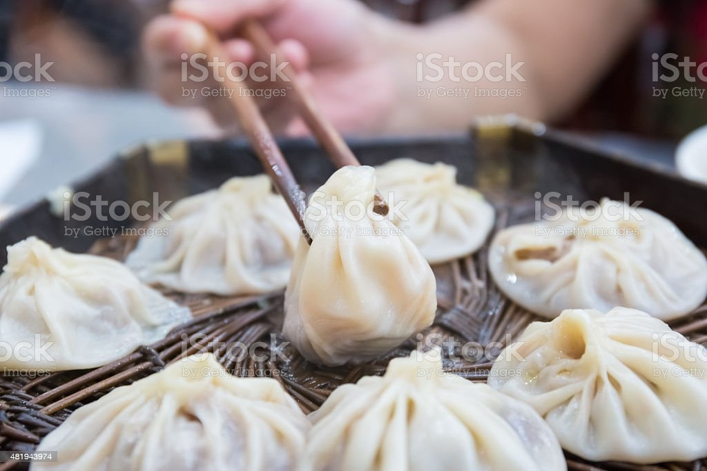 xian steamed buns stock photo