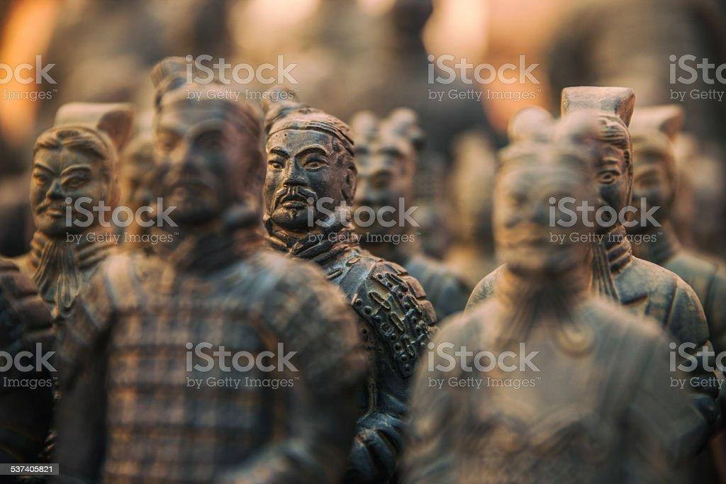Xi'an terracotta warriors stock photo