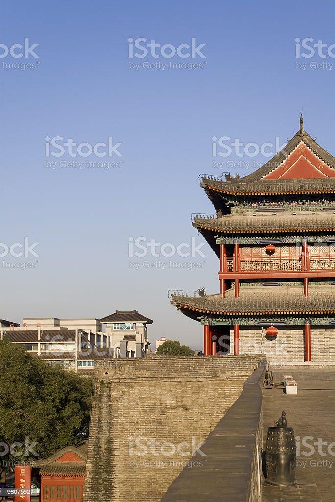 xian wall royalty-free stock photo