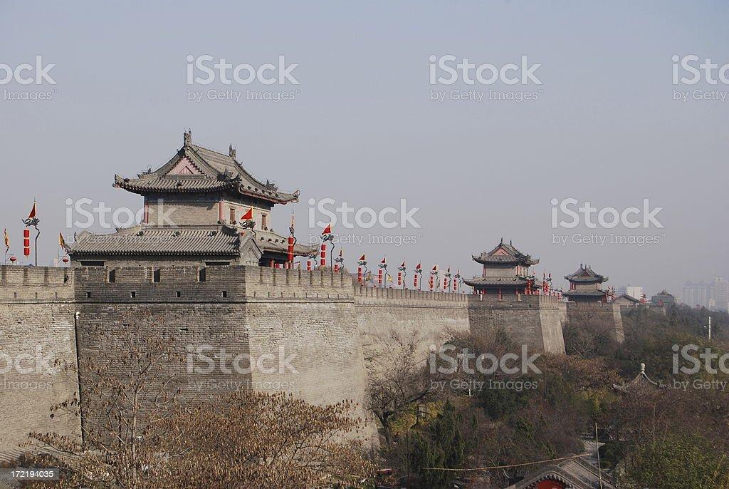 Xian's City Wall royalty-free stock photo