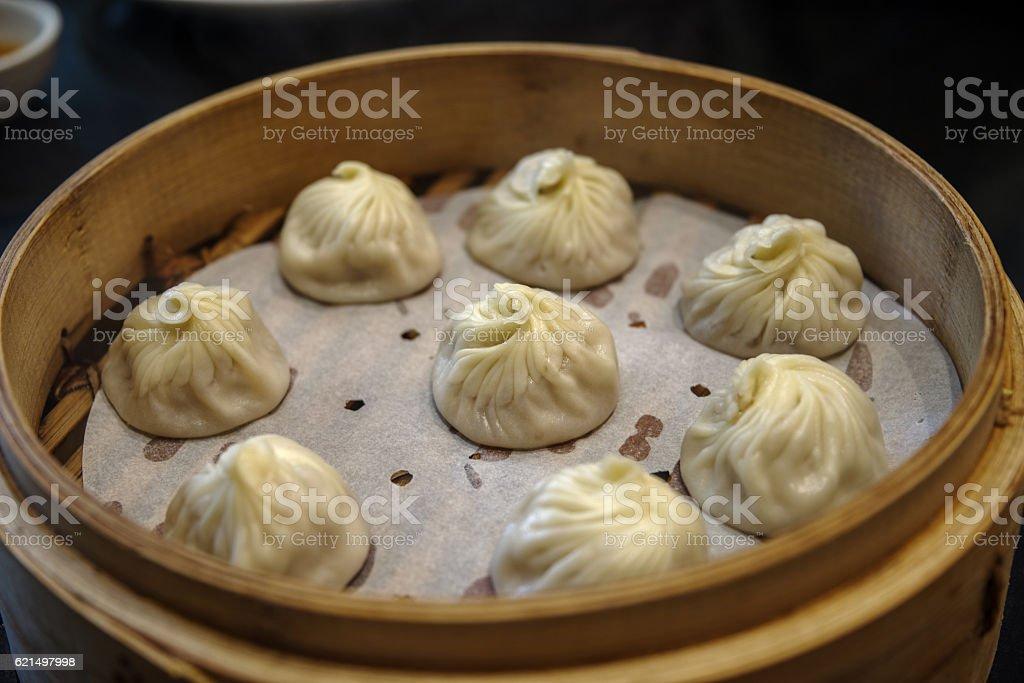 Xiao lunga Bao-Zuppa di ravioli cinesi foto stock royalty-free