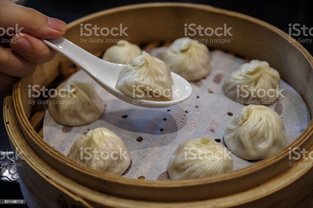 Xiao Long Bao – chinesische Teigtaschen in Suppe Lizenzfreies stock-foto