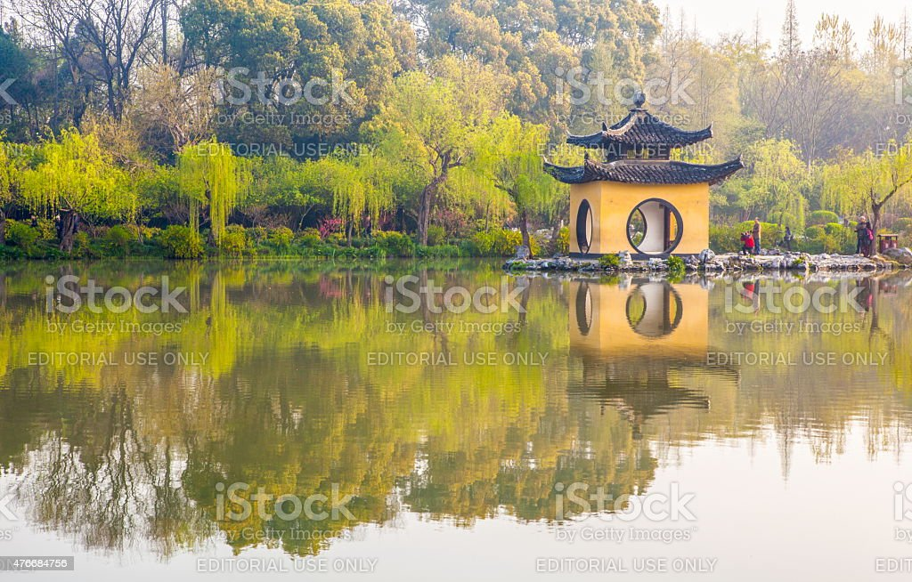 Xiaojin hill in the Slender west lake stock photo