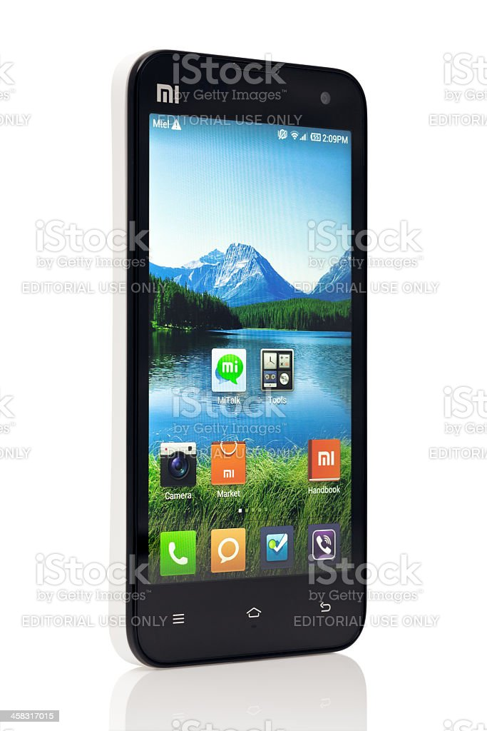 Xiaomi MI 2 Smart phone stock photo