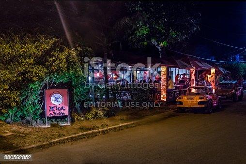 istock Xica da Silva Restaurant at night - Fernando de Noronha, Pernambuco, Brazil 880562852