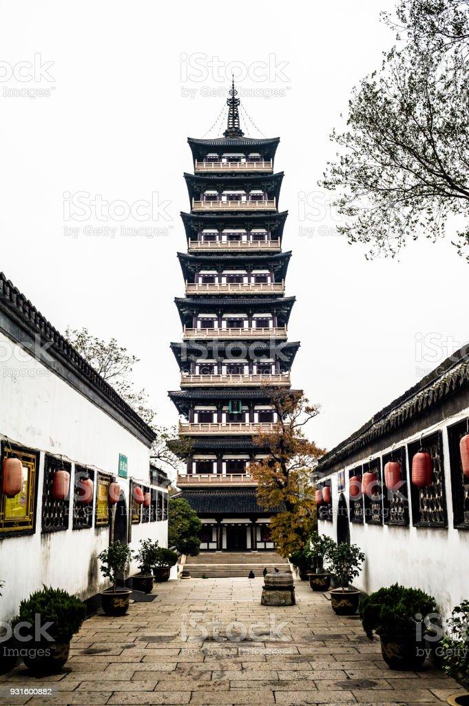 Xiling Pagoda in Daming Temple, Yangzhou stock photo