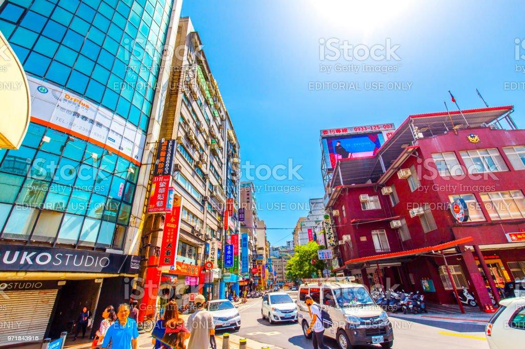 Ximending district in Taipei, Taiwan stock photo