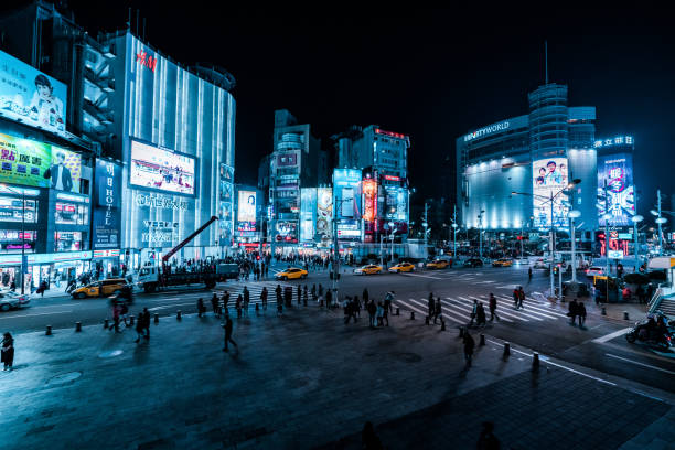 Ximending district.  Taipei stock photo