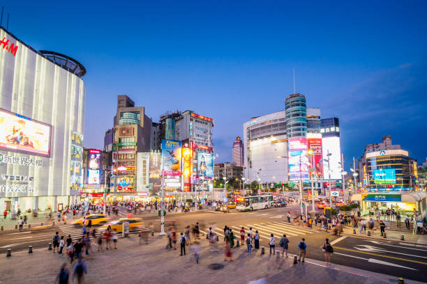 Ximending in Taipei City, Taiwan. – Foto