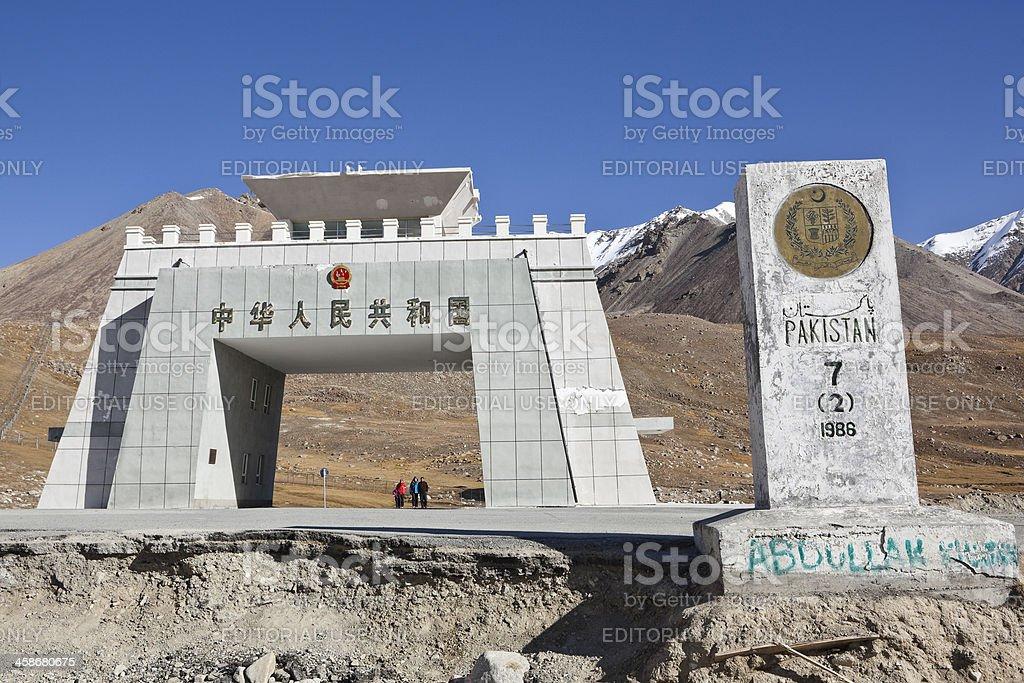 xinjiang, china: khunjerab pass stock photo