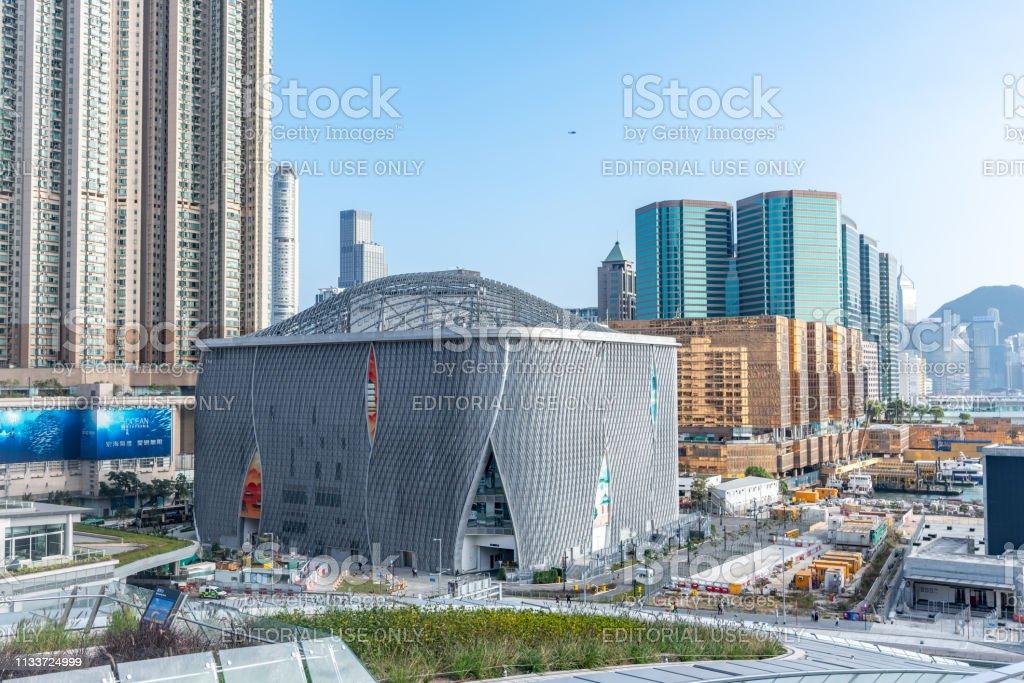 Xiqu Centre, a world-class arts venue for xiqu or Chinese opera stock photo