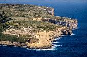 Xlendi, Xlendi Bay, viewed from above, Gozo, Malta