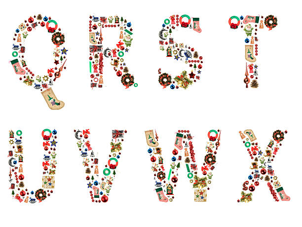 XXL Xmas Alphabet The Christmas Alphabet letter v stock pictures, royalty-free photos & images