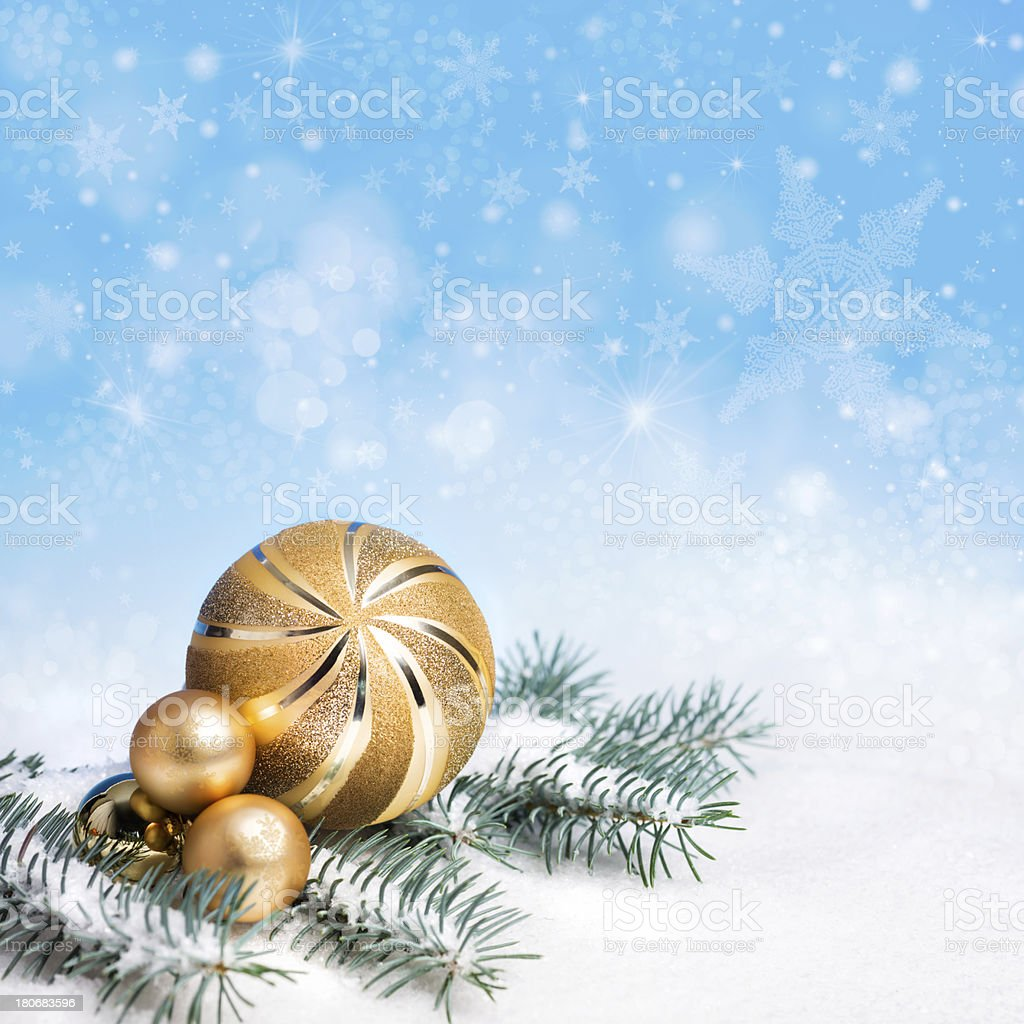 Xmas decorations, space royalty-free stock photo
