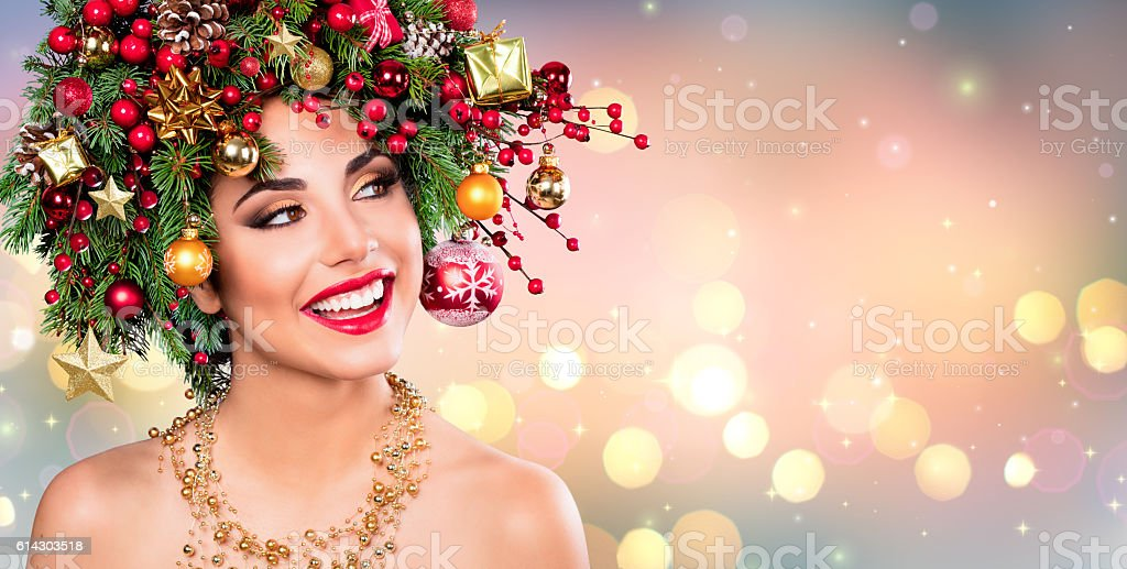 Xmas Model Woman stock photo