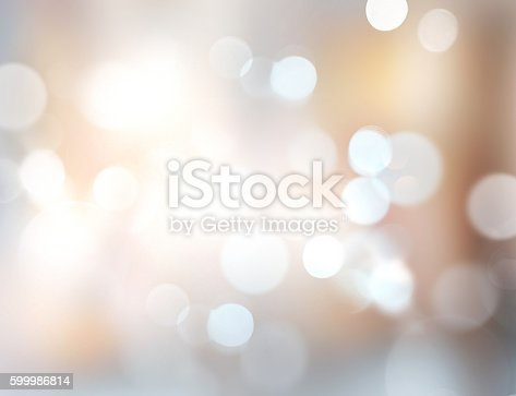 istock Xmas new year winter blurred lights illustration background. 599986814