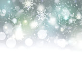 Xmas new year winter blurred lights illustration background.