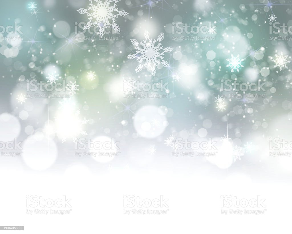 Xmas new year winter blurred lights illustration background. bildbanksfoto