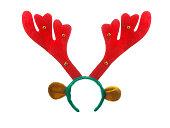 分離されたクリスマスやクリスマスのトナカイ カチューシャ