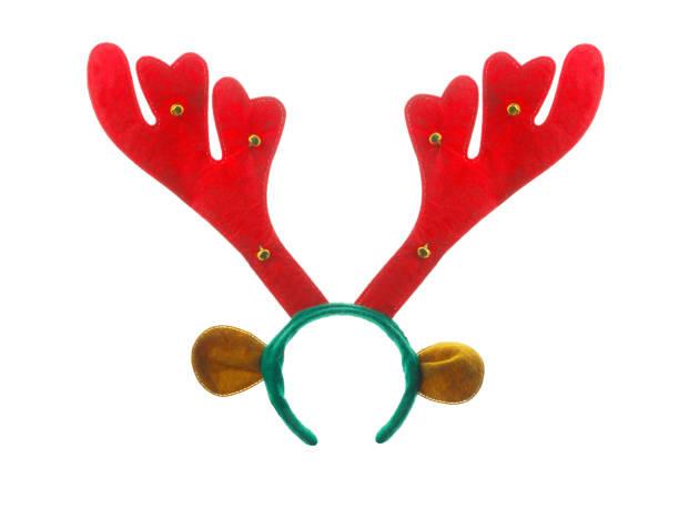 xmas or christmas reindeer headband isolated - róg zdjęcia i obrazy z banku zdjęć