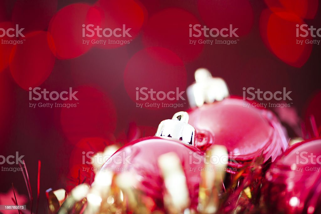 Xmas red baubles royalty-free stock photo
