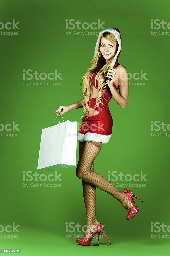 Xmas shopping royalty-free stock photo