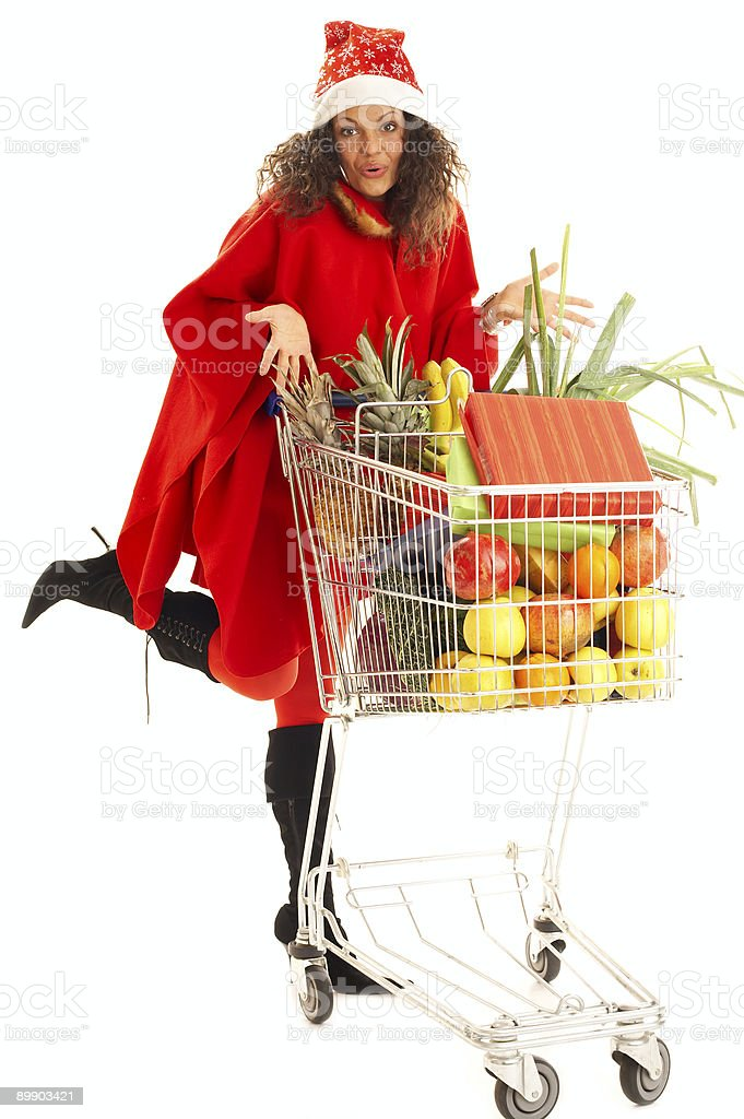 Xmas shopping royalty-free stock photo