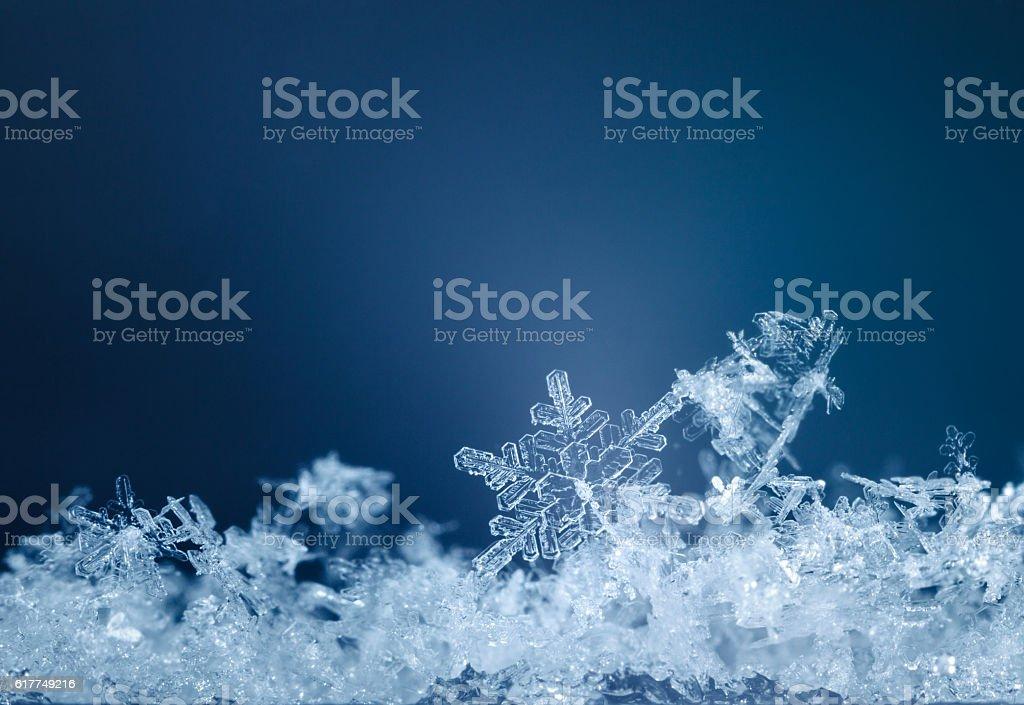 Xmas snowflake pattern stock photo