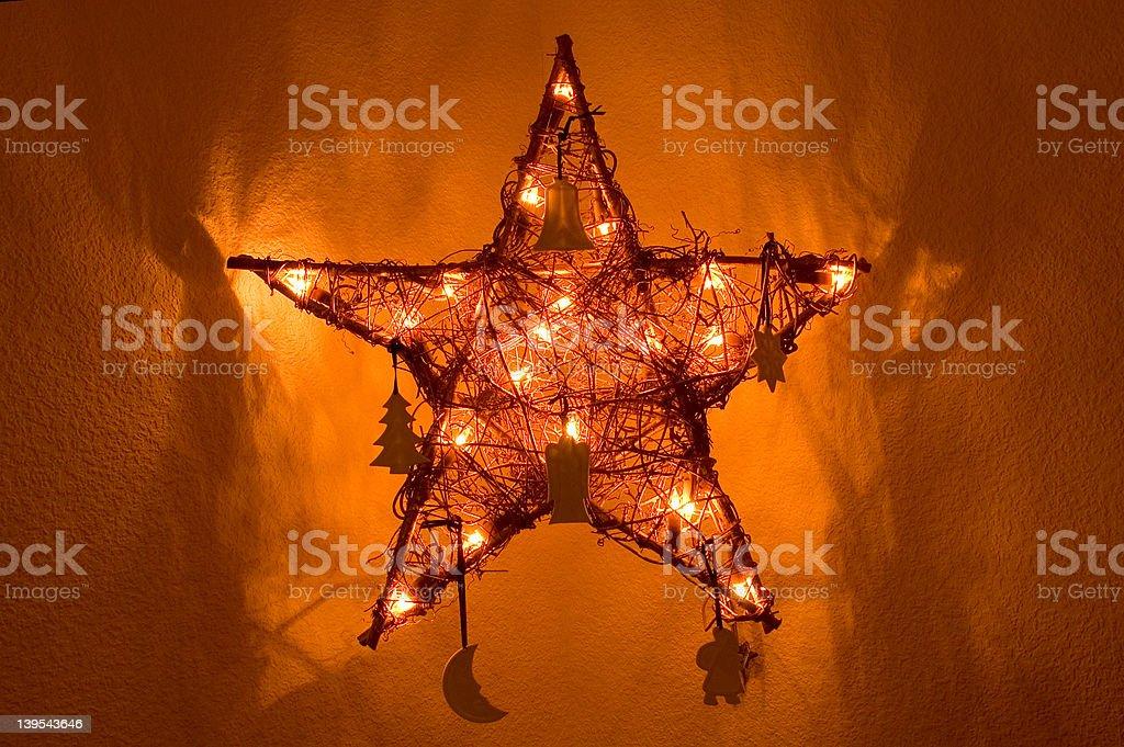 X-mas Star royalty-free stock photo