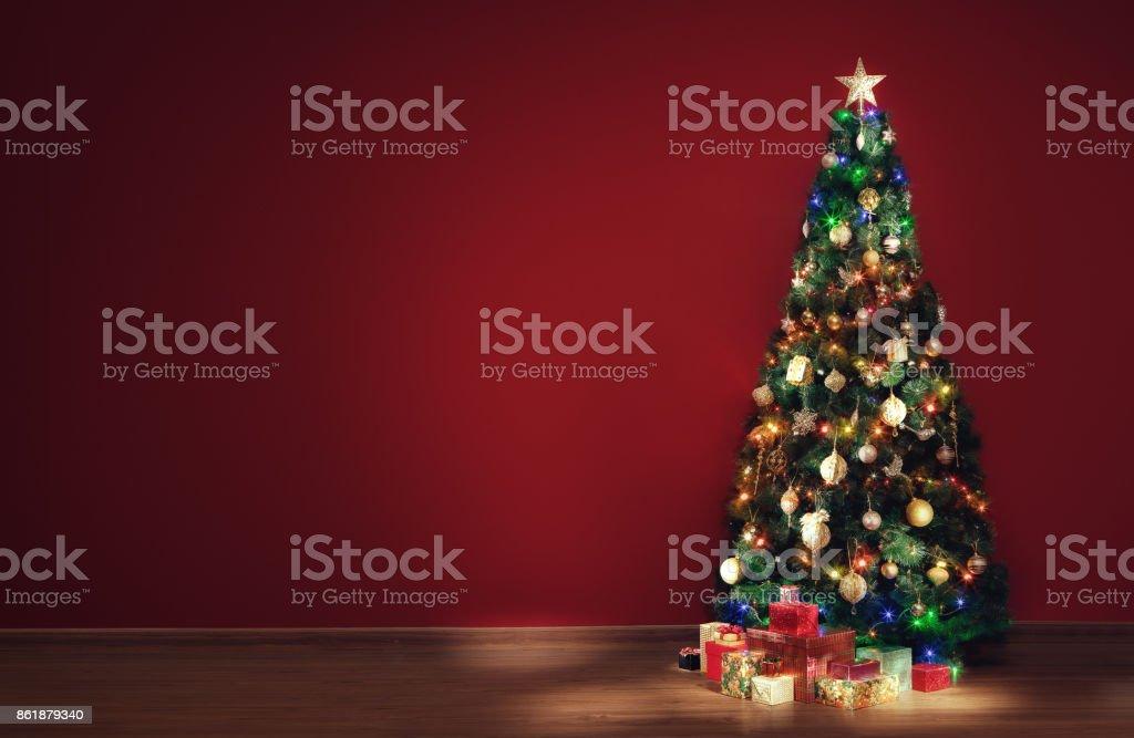 xmas tree stock photo