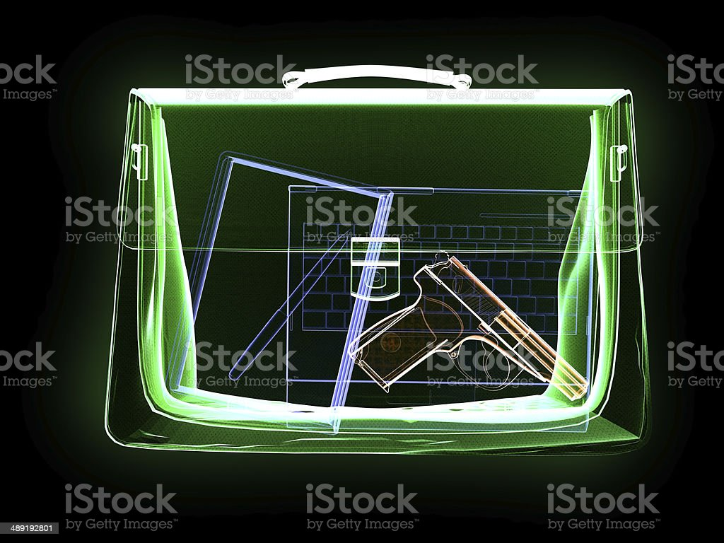 X-Ray and Dangerous Bag stock photo
