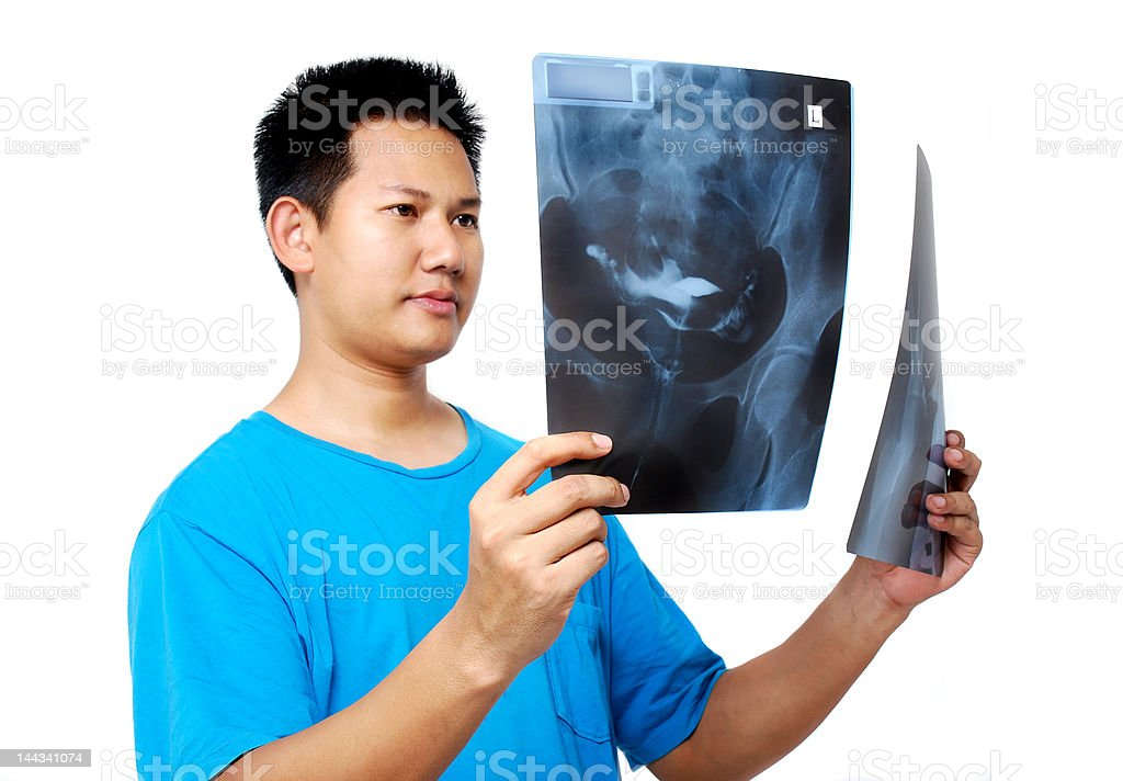 X-Ray Checker royalty-free stock photo