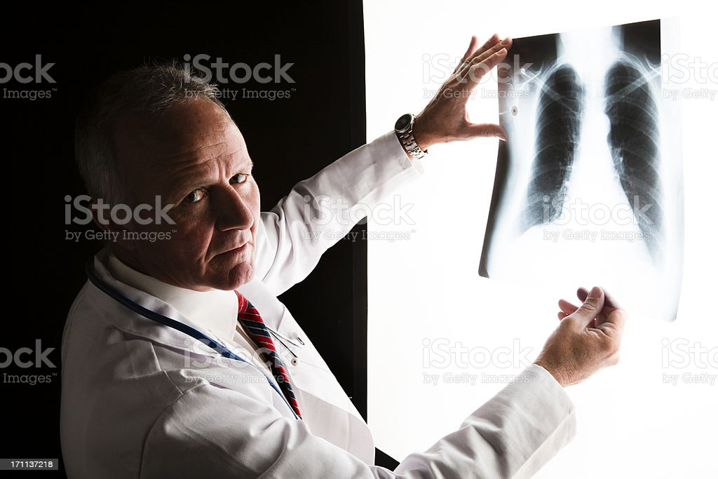 X-ray doctor stock photo