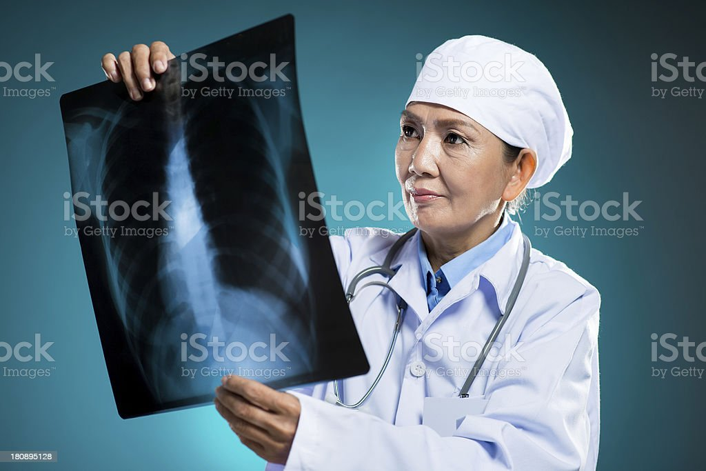 X-ray examining royalty-free stock photo